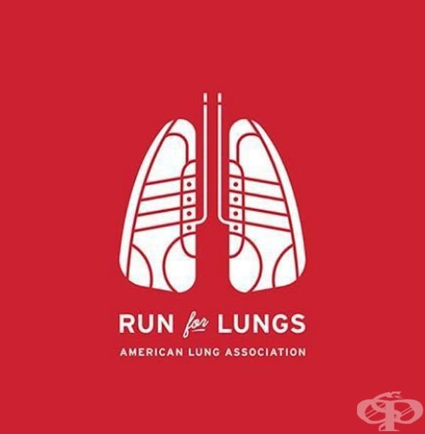 """""""Спортувайте в името на белите дробове"""" - дизайн на плакат от Американската асоциация на белите дробове."""