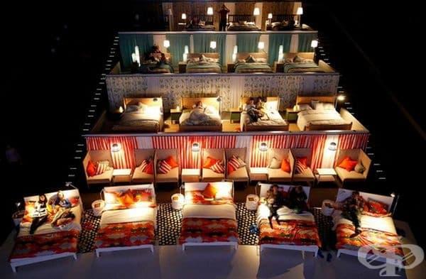 Да гледаш филм в кино с легла вместо седалки