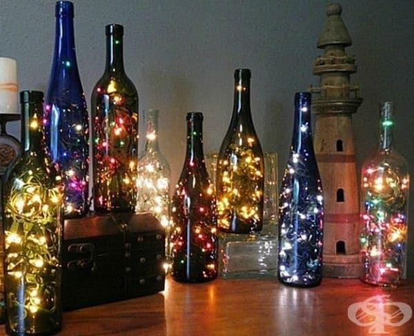 Светещи бутилки.