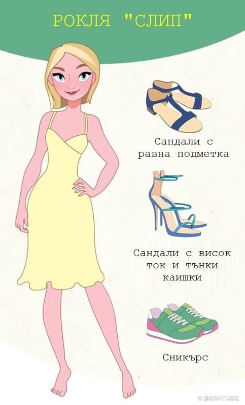 Как да съчетаем правилно роклята с обувките?