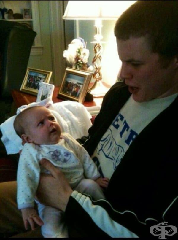 """""""Първият път, в който държах бебето на моя братовчед, бяхме много объркани."""""""
