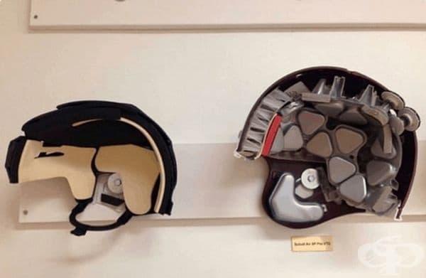 Шлем за хокей и за американски футбол.