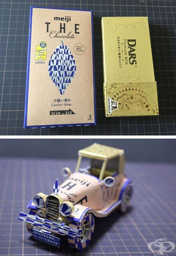 Японски художник превръща опаковки от продукти в реалистични фигури