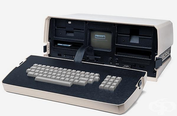 Лаптоп. Osborne 1 е първият търговски успешен лаптоп, стартиран от Osborne Computer Corporation през април 1981 г. Устройството е тежало 10,7 кг, с миниатюрен 5-инчов екран и се е захранвало само от електрически контакт.