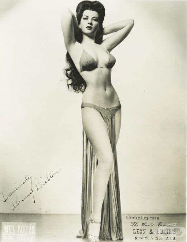 Шери Бритън, бурлеска звезда от 30-те и 40-те години на миналия век с невероятна фигура: височина - 160 см., талия - 46 см.