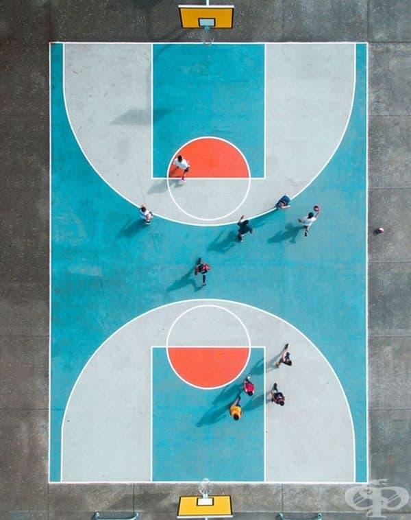 """Баскетболно игрище от Петра Лиъри - първа награда в категория"""" Портрет """", професионална група."""