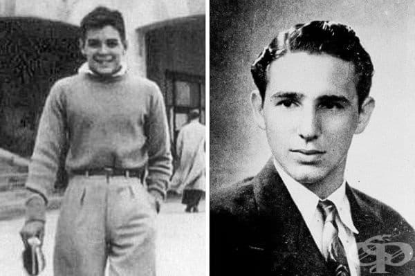 Ернесто Че Гевара и Фидел Кастро като ученици.