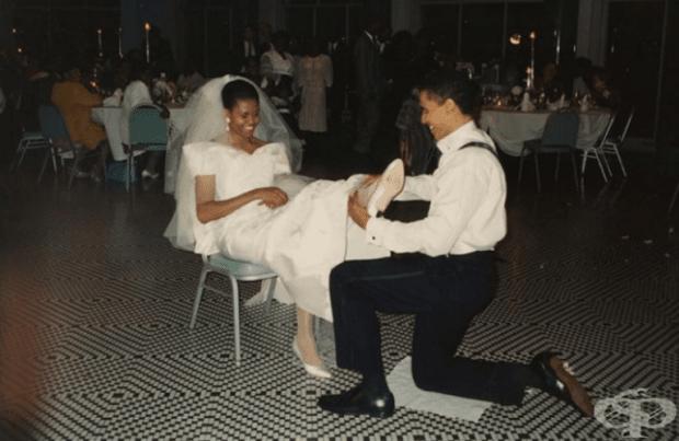 Сватбена снимка на Барак и Мишел Обама.