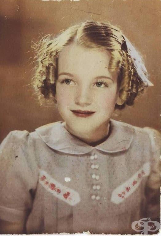 Мерилин Монро като дете.