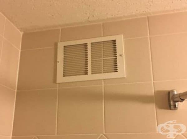 Изглежда, че вентилацията в хотела не работи.