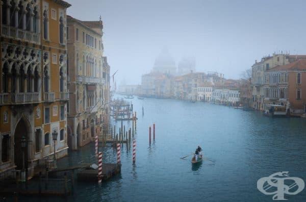 Изключително мъглив следобед, който е позволил уникална възможност за снимки.