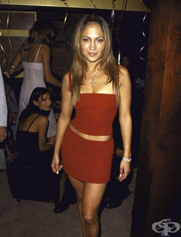Дженифър Лопес на нейния 30-ти рожден ден през 1999 г.