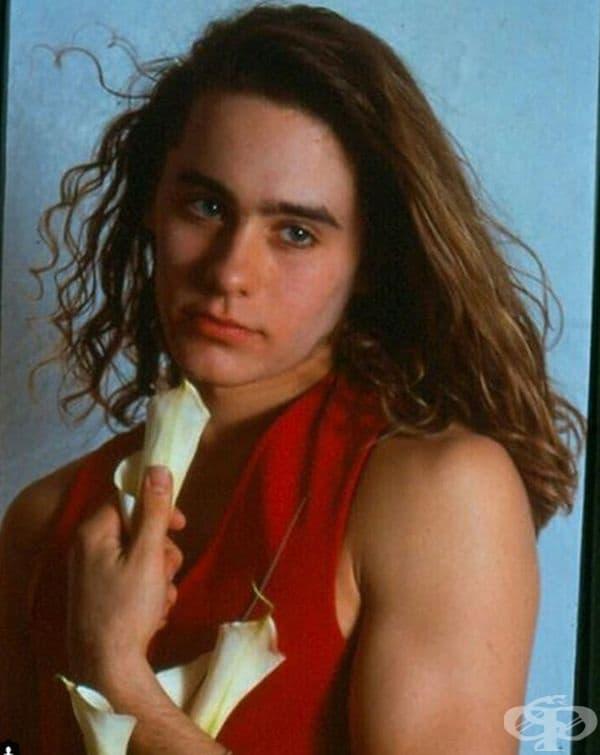 Джаред Лето като модел през 1989-та.