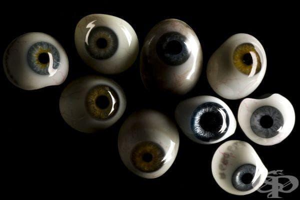 Очни протези, ползвани от 15 до 20 век