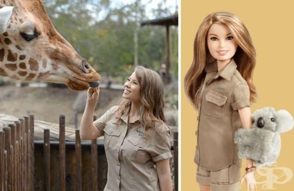 Бинди Ъруин, дъщеря на Ловецът на крокодили Стив Ъруин. Тя е природозащитник, актриса, певица, автор на песни и танцьорка.