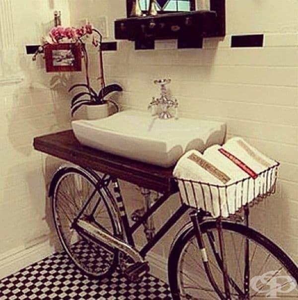 Вашият стар велосипед може да се превърне в нова мивка за банята.