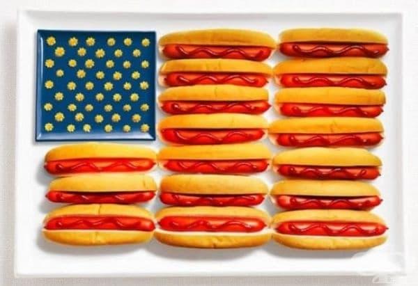 Америка: хотдог, кетчуп, горчица или сирене