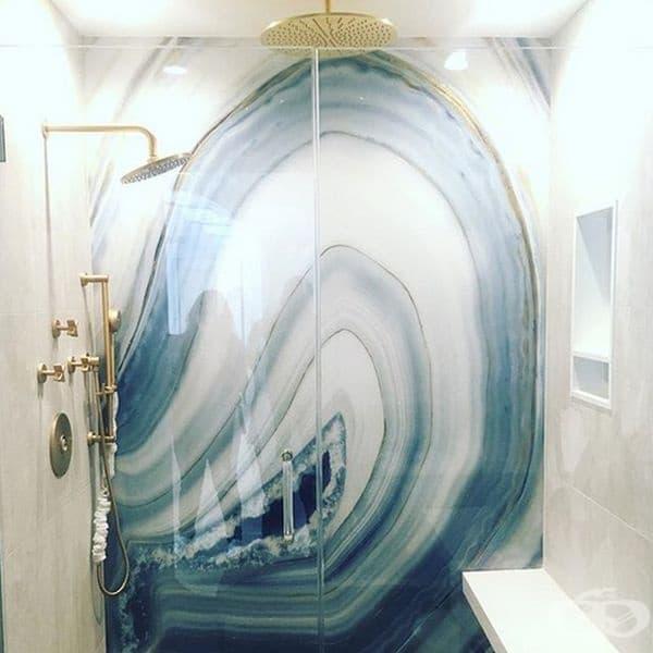 С подобен дизайн ще имате баня, единствена по рода си.