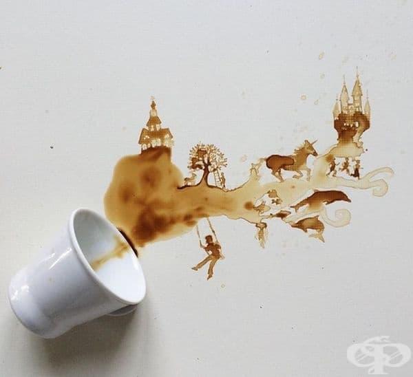 Невероятни картини от разлято кафе или чай