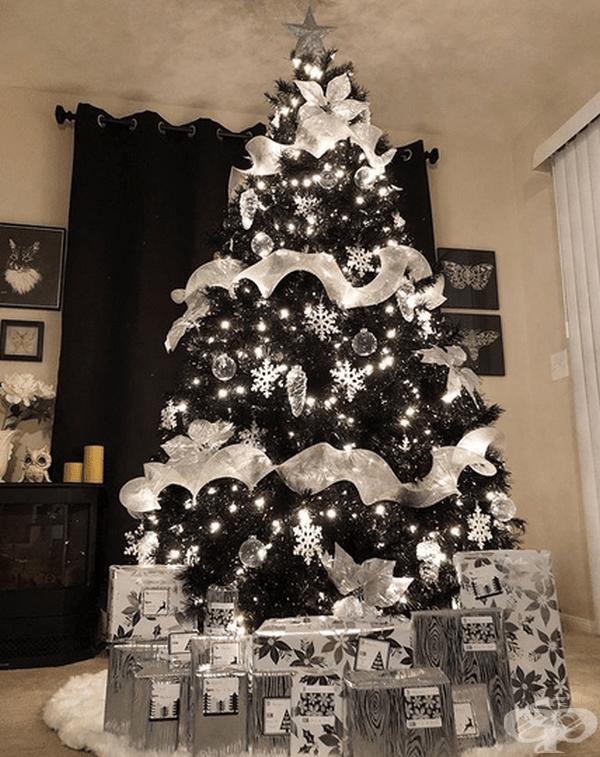 Освен бели елхи, съществуват и черни. Ето едно предложение в този вариант.