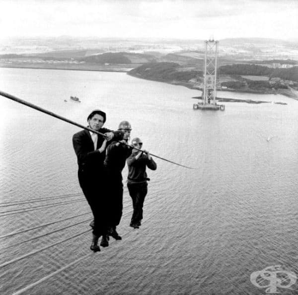 Изграждане на Форт-Роуд-Бридж, Шотландия, 1961.
