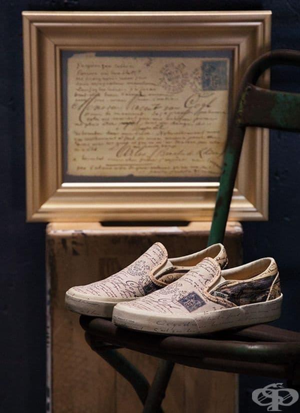 Произведения на Ван Гог са новата модна линия на серия обувки и аксесоари