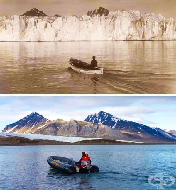 Арктика преди 100 години и днес.