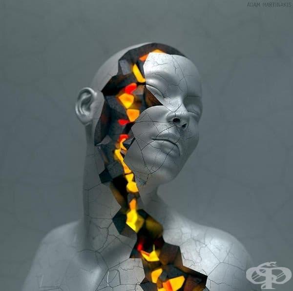 """""""Огнени корени"""": Това е още една творба на Адам Мартинакис, която изобразява вътрешния свят на човешкия индивид."""