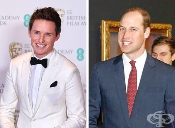 Еди Редмейн и принц Уилям - 35 години