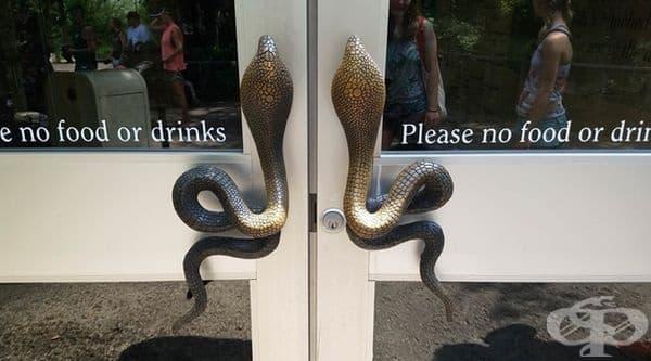 Вие бихте ли преминали през врати с такива дръжки?