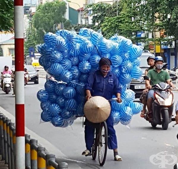 Експресно транспортиране на топки.