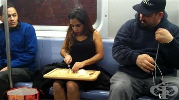 Когато се опитвате да бъдете добра съпруга, но закъснявате за работа.