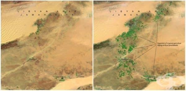 Грейт Мен-мейд ривър, Либия (април 1987 - април 2010). Това е най-големият   инженерен проект в света: мрежа от тръби, акведукти и кладенци с повече от 500   метра дълбочина. Водната система снабдява пустинята с вода.