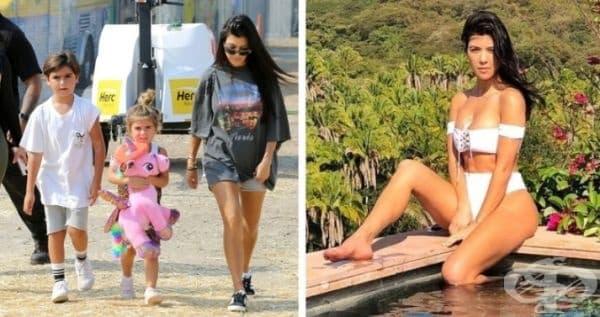 Кортни Кардашиян е по-голямата сестра на Ким Кардашиян и е майка на 3 деца. Храни се с малки порции без глутенова храна няколко пъти на ден. Също така отделя време за тренировки кардио и силови упражнения.