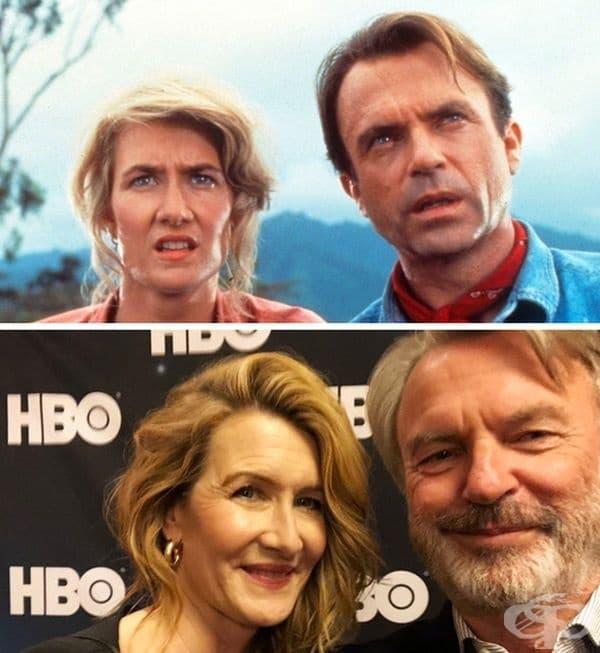 Лора Дърн се появи и на снимки заедно със Сам Нийл (д-р Алън Грант). Актьорите участваха в пресконференцията на HBO Television Critics Association в Калифорния.