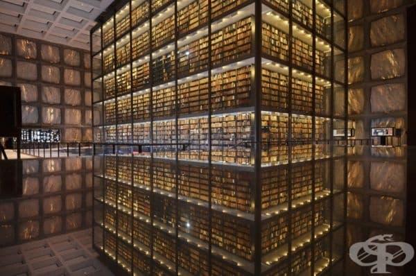 Библиотека с редки книги и ръкописи в Йейлския университет, Канектикът, САЩ.