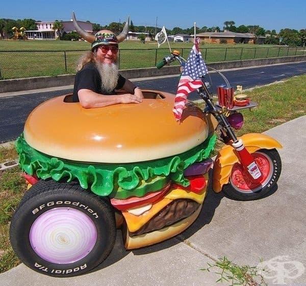 За управлението на хамбургер не са ви нужни шофьорски умения.