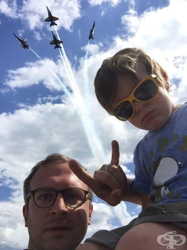 """""""Заведох сина ми на авиошоу."""""""