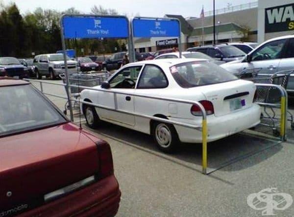 Това може би е единственото място, където автомобилът трудно би бил прибран с паяк.