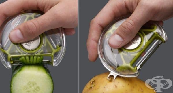 Белачка за зеленчуци с три вида ножчета.