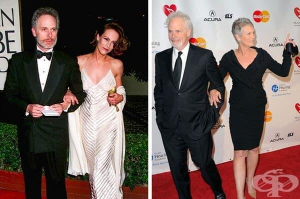 """Джейми Лий Къртис: 34 годишен брак. Съпругът на Джейми е Кристофър Гост, актьор и автор на песни. Къртис се влюбва в него по време на снимките на филма """"This Is Spinal Tap"""". 5-месеца по-късно те се женят."""