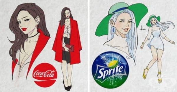 Канадски художник представя как биха изглеждали известни напитки, ако бяха хора