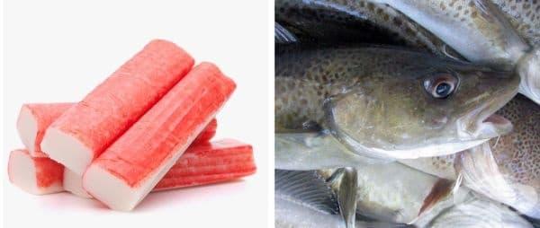 Любимите ви ролца от раци не са приготвени от раци. Те всъщност представляват смес от нишесте, паста от бяла риба и оранжево хранително багрило, за да изглеждат по-апетитни.