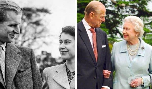 Кралица Елизабет II и нейния съпруг Филип, херцог на Единбург. 70 години брак.