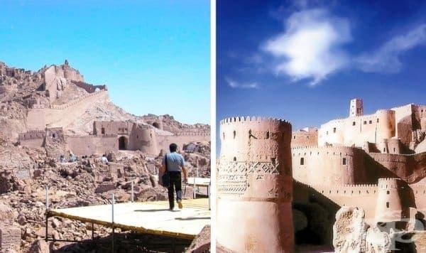 Изглед към старата част на иранския град Бам, унищожен почти напълно от земетресение през 2003 г.