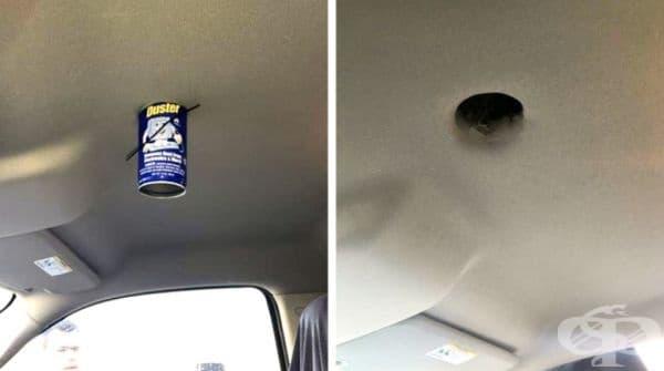 Не е трябвало да оставяте аерозола на жегата в служебната си кола.