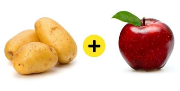 Поставете ябълка при картофите, за да не покълват повече.