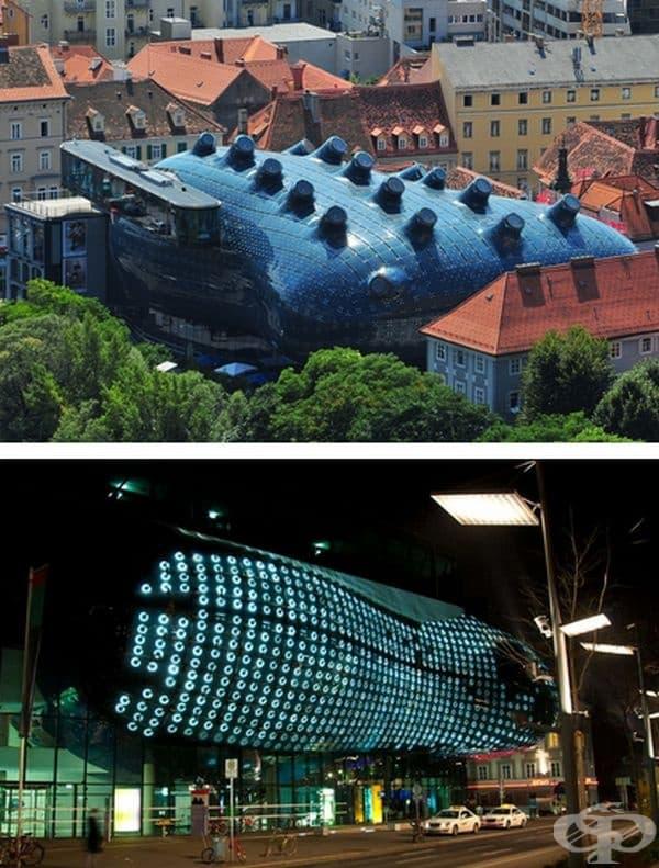 Музей на модерното изкуство Кунстхаус в Грац, Австрия.