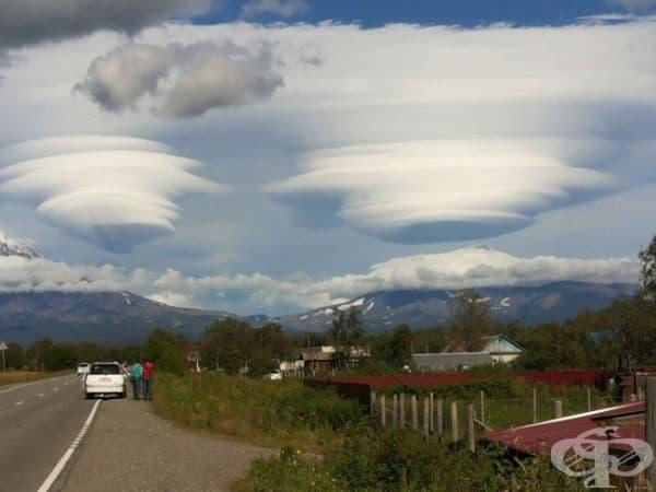 """Някой """"разби"""" облаците в Камчатка."""
