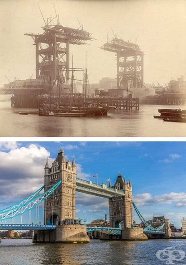 Тауър Бридж, Лондон, Англия. Строителство: 1886-1894 г
